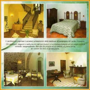 Sant 'Elia B&B, an old hunting lodge, in a page from its brochure